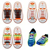 No Tie Shoelace, Oumers Lazy Tieless Silicone Rubber Sneaker Shoelaces for Kids and Adults, Waterproof/ Durable, Easy to Install/Off