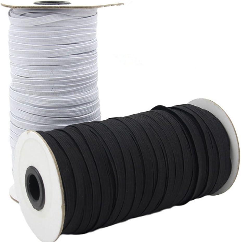black 4mm x 10 Meters Strong Flat Elastic Bungee Rope Shock Cord Tie Down DIY Handmade Accessories