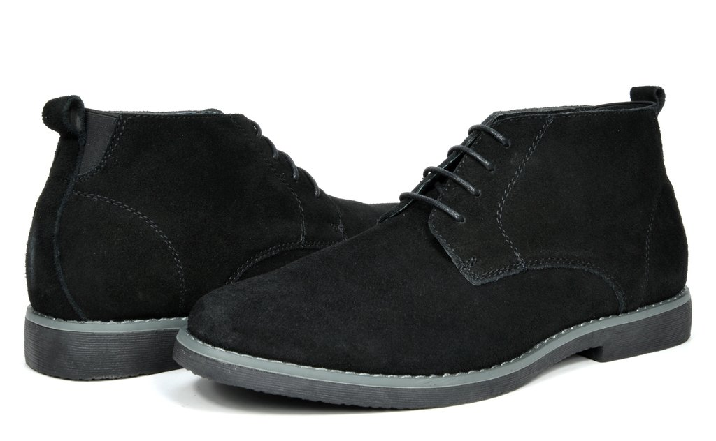Bruno Marc Men's Chukka Black Suede Leather Chukka Desert Oxford Ankle Boots - 10.5 M US by BRUNO MARC NEW YORK