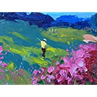 Augusta Club Prints Landscape Painting Canvas Art Prints from Original Oil Painting of Agostino Veroni Home Decor Office Decorations Gifts Golf Lovers Christmas Present for Him Her Abstract Artwork