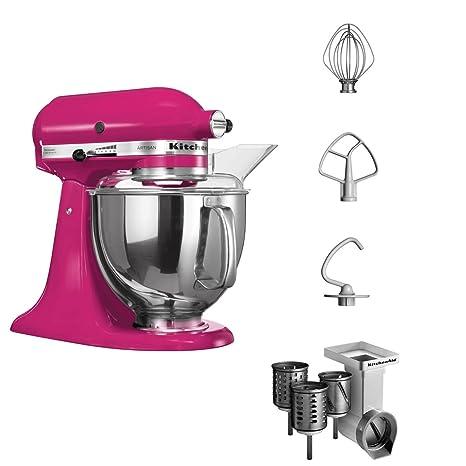 KitchenAid Artisan - Batidora de vaso, 300 W, con accesorios, color rosa