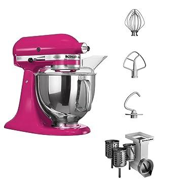 KitchenAid Artisan - Batidora de vaso, 300 W, con accesorios, color rosa: Amazon.es: Hogar