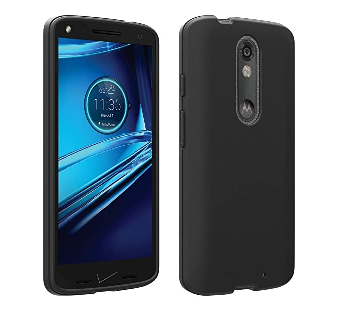 Motorola Droid Turbo 2 Verizon OEM Matte Silicone Cover - Black