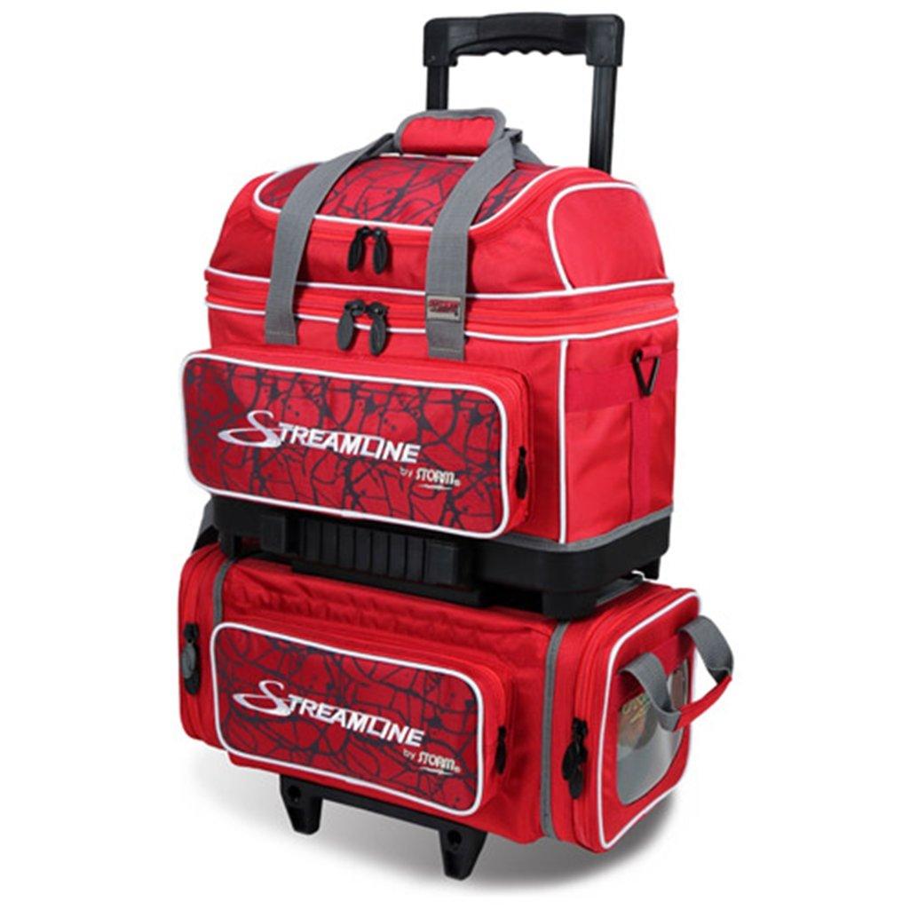 Storm Streamline 4 Ball Roller Bowling Bag Red Crackle/Red