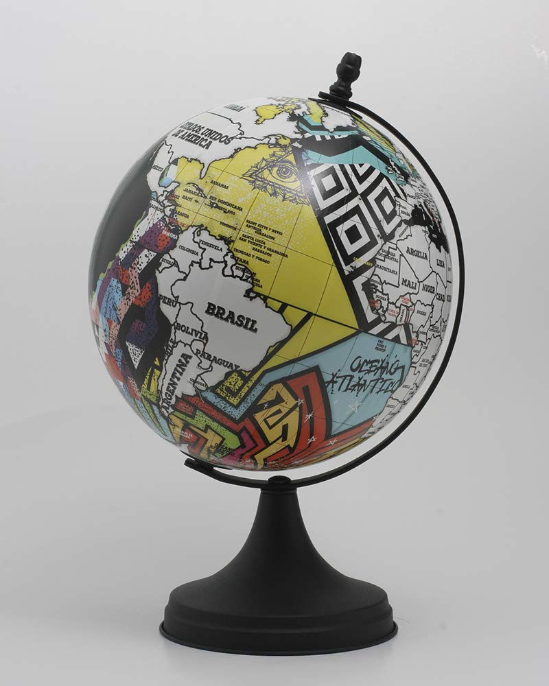 10 inches Deluxe Design Handcrafted Rotating World Earth Globe Perfect for Home Office Decoration Gift (Wall) by KB Zone