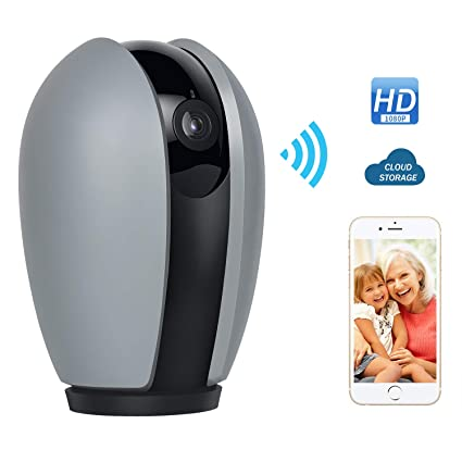 1080P Indoor IP Camera Wireless WiFi Home Security Surveillance Camera That  Compatible with Alexa Cameras Pan/Tilt /Zoom Motion Detection/Sound