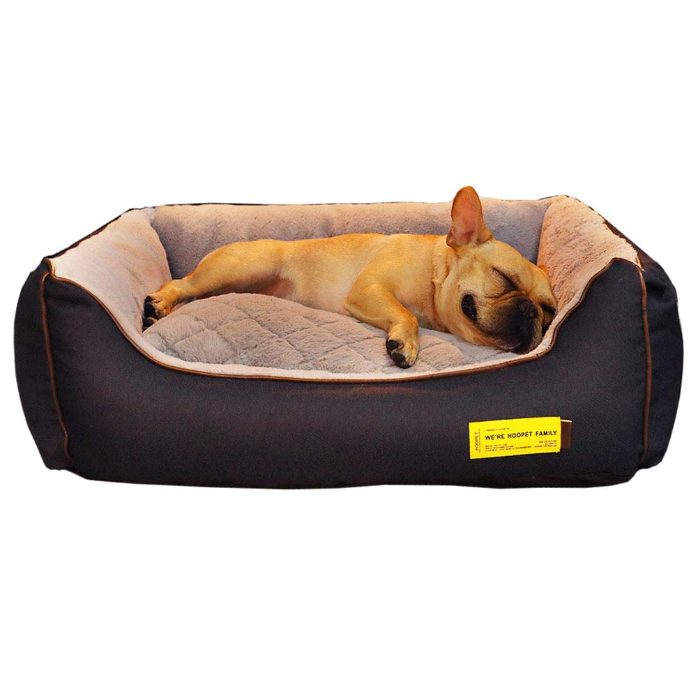 75×60×26cm LXLA - Large Deluxe Plush Dog Bed, Cuddly Non-Slip Dog Sofa with Removable Washable Cover (Size   75×60×26cm)