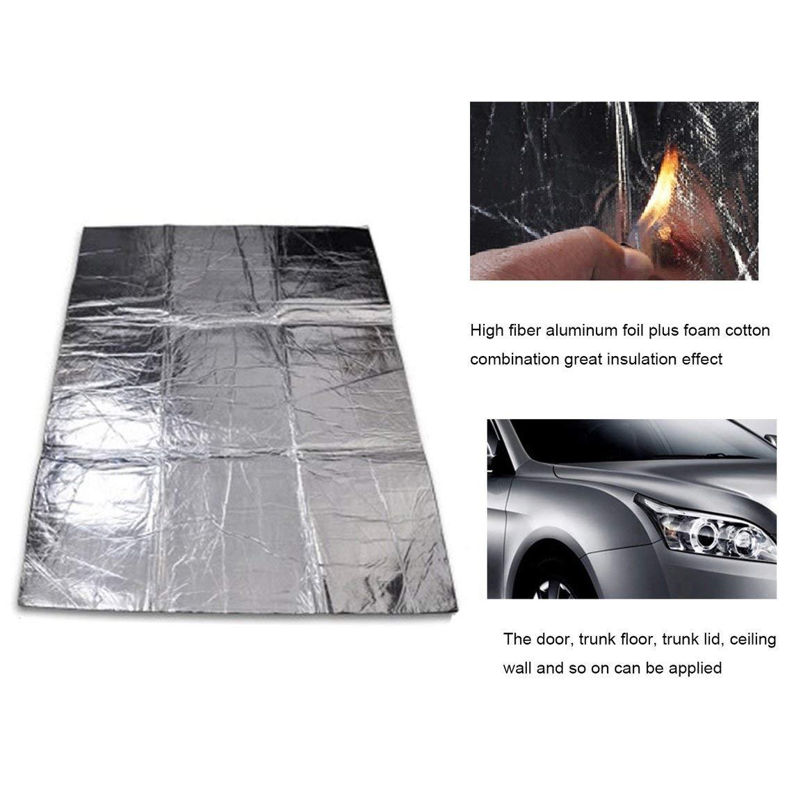 Car-Styling auto cofano motore Firewall stuoia di calore deadener Isolamento acustico fonoassorbente alluminio Mat Shield Sticker