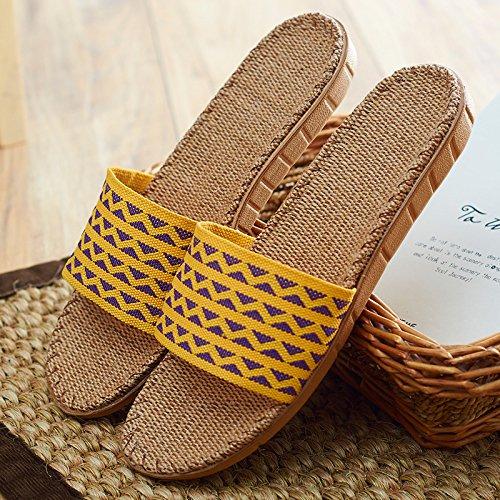 Y-Hui primavera ed estate biancheria per la casa pantofole con gli uomini in ufficio un paio di pantofole Anti-Skid Casa Arredamento pavimento in legno