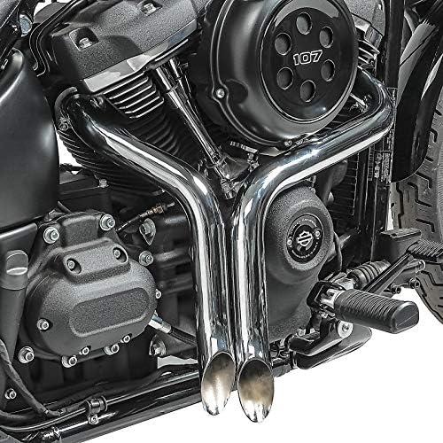 Auspuff f/ür Harley Davidson Softail Custom 86-09 Drag Pipe Chrom