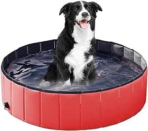 Paddling Pools for Dogs,Dog Swimming Pool Pet Bathtub Summer Swimming Pool,Foldable PVC Pet Swimming Pool