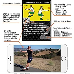 Stack 52 HIIT Interval Workout Game. Designed Military Fitness Expert. Video Instructions Included. Bodyweight Exercises, No Equipment Needed. Fun Motivating Training Program. from Stack 52