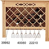 Wine Lattice - Red Oak - pair