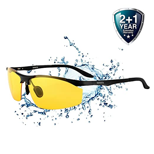 ae05d73ab6 Driving Glasses for Men Anti Glare Polarized HD Safety Glasses at Night  Yellow Lens