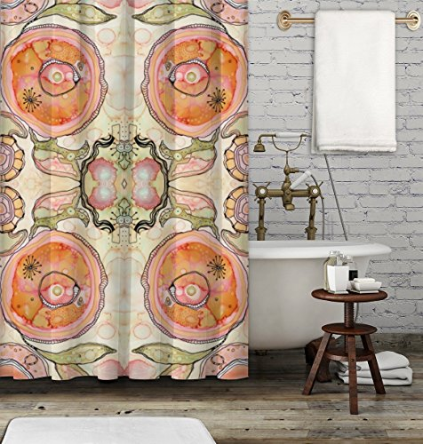Funky colorful shower curtain. Boho gypsy style bathroom accessories. Add a matching bath mat! Artwork by mixed media artist C.Cambrea.