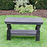 Amish Heavy Duty Pressure Treated Coffee Table (Semi-Solid Black Stain)