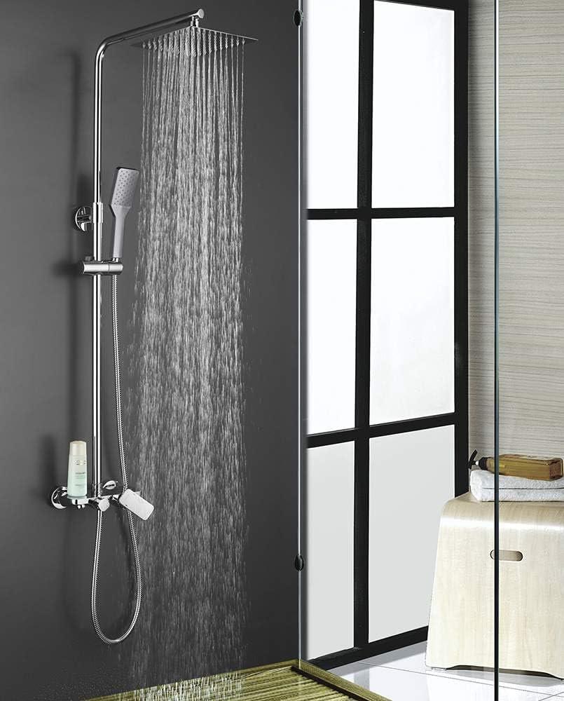Columna de ducha monomando extralarga redonda modelo DUA con ...