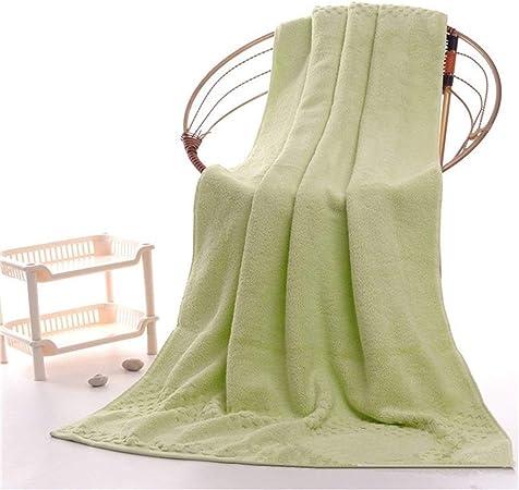 NO BRAND Fácil de Lavar 70 * 145cm 750g algodón Egipcio Toallas de baño for Adultos, Extra Grande Sauna Terry Toallas de baño, bañera Grande Hojas Toallas de Playa (Color : Green):