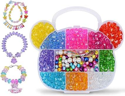 Craft DIY Mixed Colour Transparent Acrylic Charm Beads Various Shape Large Bead