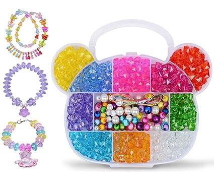 Amazon Com Kids Girls Jewellery Craft Bead Set Diy Art Jewellery