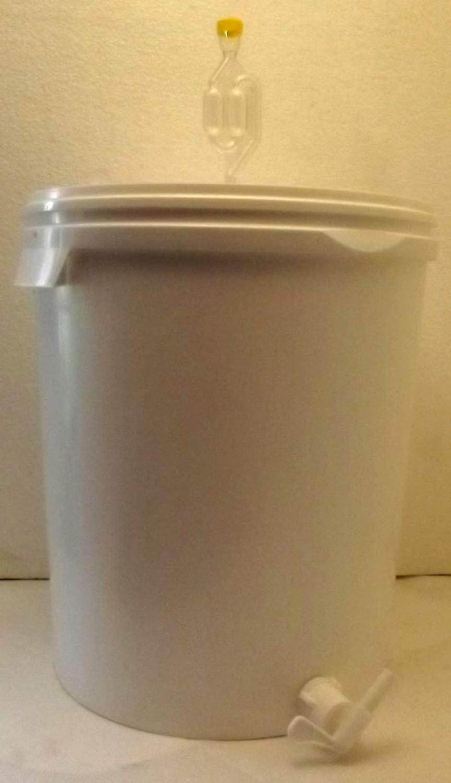 Großer Gärbehälter (33 Liter Volumen) mit Ablasshahn und Gärröhrchen
