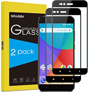 SPARIN [2-Pack Cristal Templado Xiaomi Mi A1, Full-Cover Protector ...