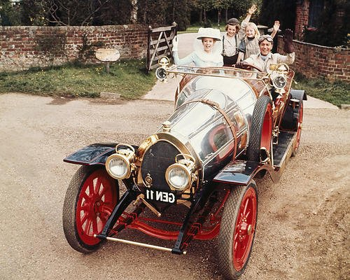- Sally Ann Howes Dick Van Dyke Chitty Chitty Bang Bang 8x10 Promotional Photograph Classic Car