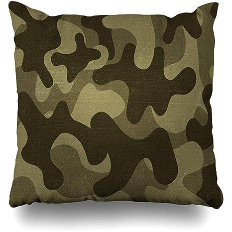 Funda de cojín con diseño de camuflaje, camuflaje marrón ...
