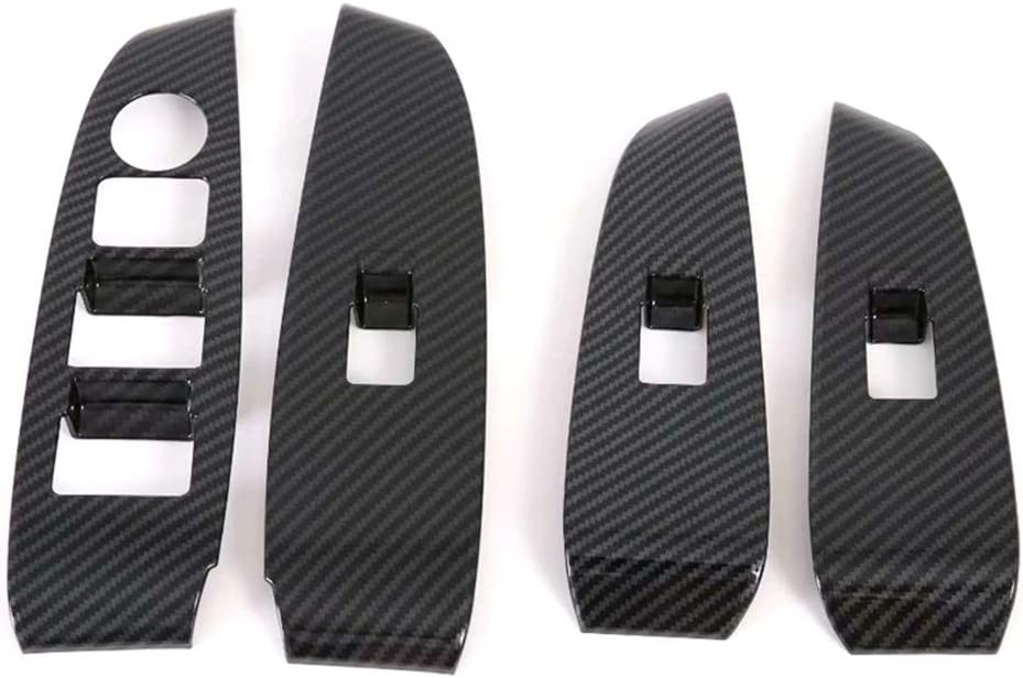 YUZHONGTIAN 2019-2020 for Mazda 6 M6 Car Interior Accessories Window Switch Control Panel Cover Trim ABS Carbon Style 4PCS Only Fit LHD