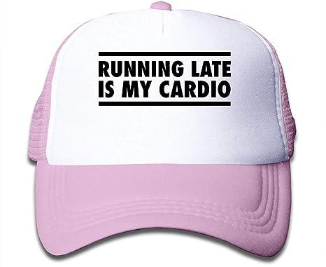 Llegar tarde es mi Cardio Sun Mesh Back Caps Gorras de béisbol de ...