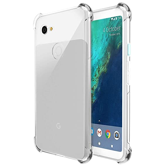 promo code 74851 c5533 Google Pixel 3 Case, OEAGO [Ultra Slim Thin] Soft Feel Flexible Easy Grip  Gel Premium TPU Rubber Silicone Skin Case Cover Google Pixel3 Phone - Clear