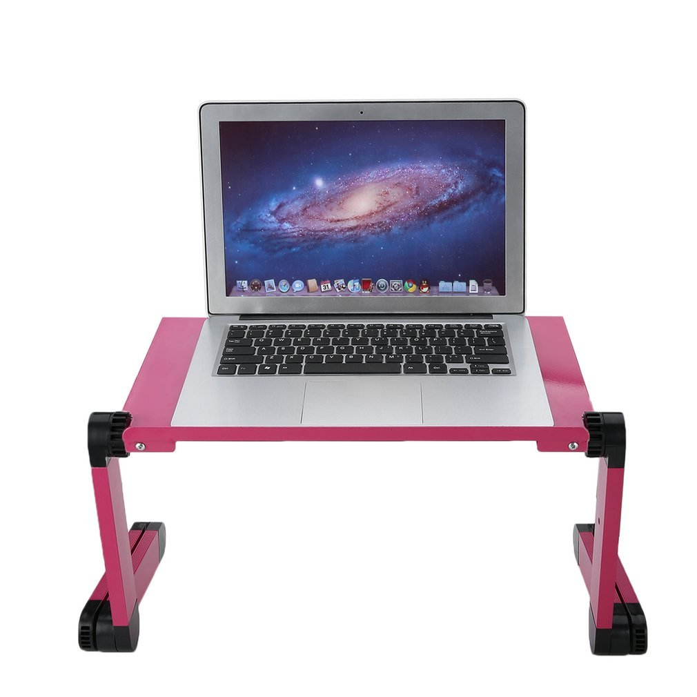 maistore portátil cama soporte para ordenador portátil de escritorio mesa 360 ° plegable portátil ajustable aleación de aluminio conjuntos cama bandeja para ...