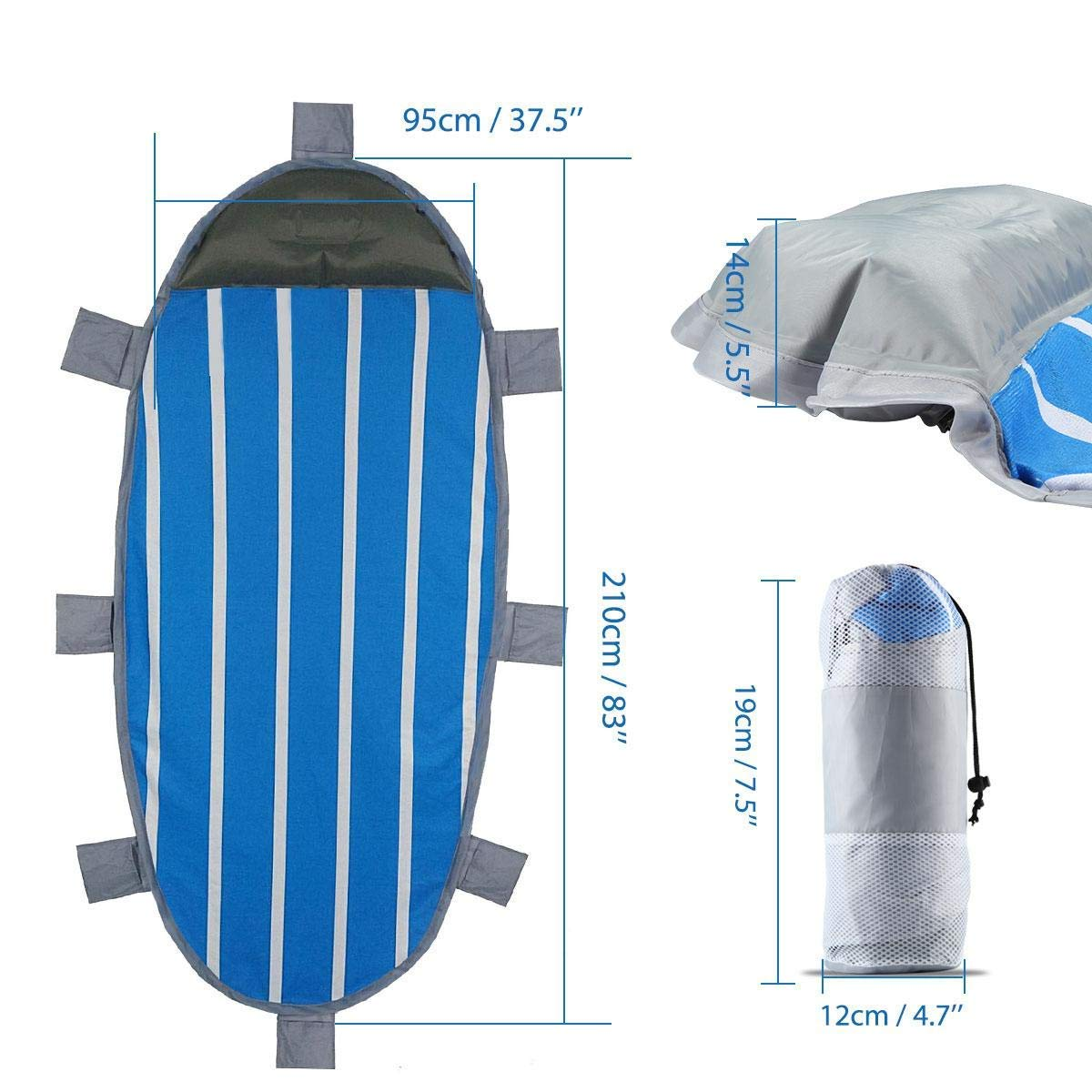 ideale per picnic campeggio Meteor Zaino termico da 10 e 20 l rosso//blu 74592 picnic campeggio 10 l
