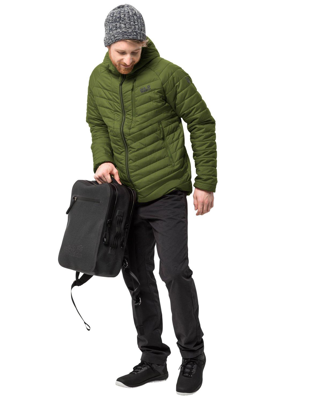 Jack Wolfskin Homme Aero Trail Men Isolation Veste Coupe-Vent imperméable Veste de Prougeection Contre Les intempéries cypress vert XL