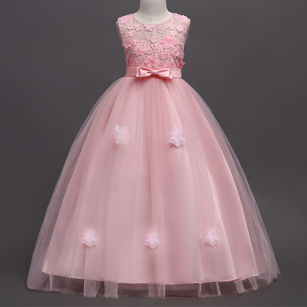 Vestido de Niña de Flores Baile la Boda de Vestidos Niña de Dama De ...