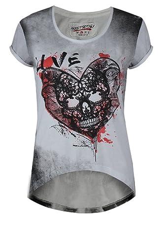 Trueprodigy Casual Mujer Camisetas Estampado Ropa Retro Vintage Rock Diseño Moda Cuello Redondo (Man...