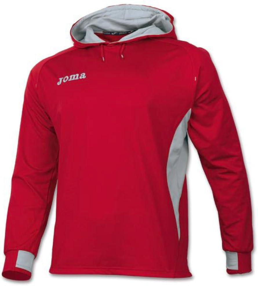 JOMA SPORT - Joma Elite III, Sudadera con Capucha, Color Rojo-Gris ...