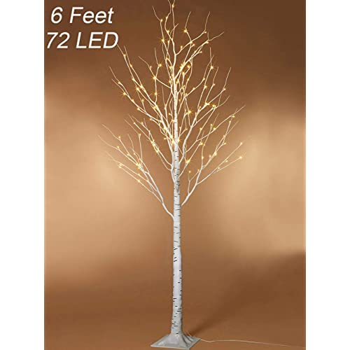 twinkle star lighted birch tree 6 feet 72 led home wedding festival party christmas decoration