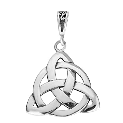 Amazon sterling silver wiccan triquetra pendant 20mm jewelry mozeypictures Image collections