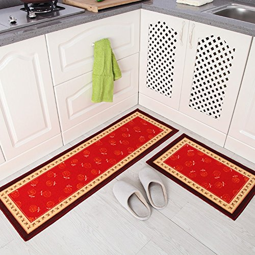 Homartary home and kitchen rugs rubber backing non slip for Tapis cuisine antiderapant