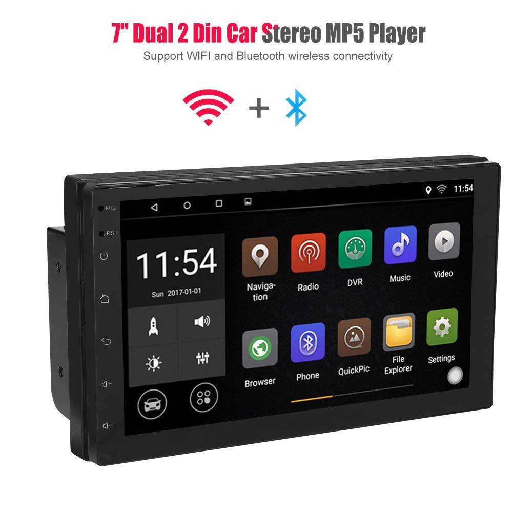 Auto Multimedia Lecteur MP5 Bluetooth De Voiture St/ér/éo 7 Pouces /écran De La Presse Vid/éo Mp5 Lecteur avec la Navigation de g/én/éralistes inversant la cam/éra
