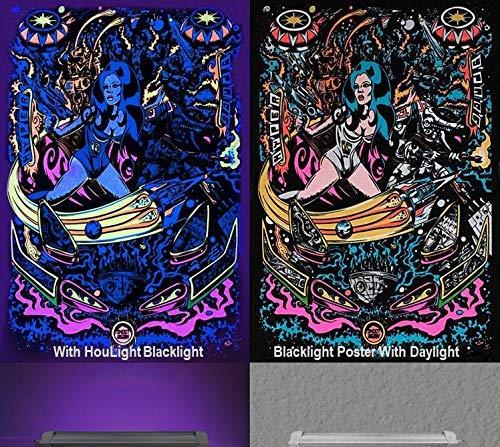 UV LED Black Light, HouLight 10W UV LED Tube Black Light for Blacklight Poster, UV Art, Bedroom, Ultraviolet Light for Halloween and Blacklight Parties