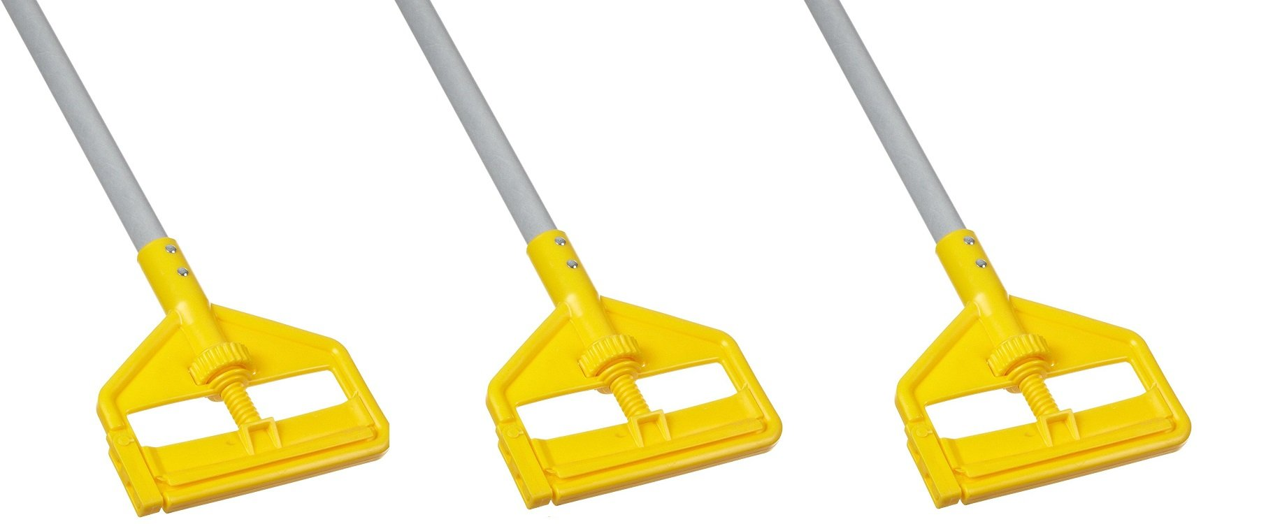Rubbermaid Commercial Invader Side Gate Wet Mop Handle, 54-Inch, FGH145000000 (3 PACK)