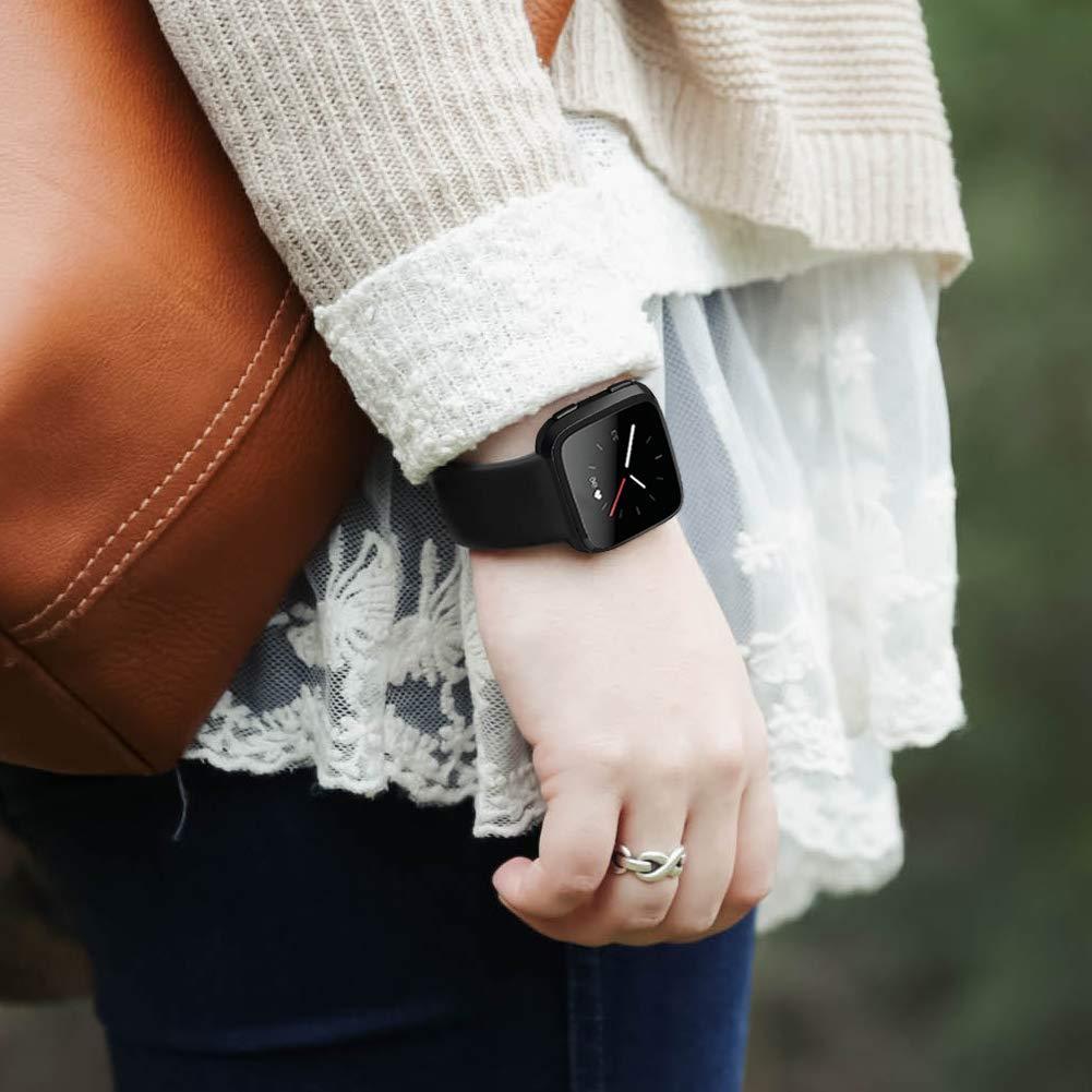 Bande en TPU Silicone Souple Sangle de Remplacement Reglables Sport Accessorie OenFoto Sport Bracelet Compatible Fitbit Versa /& Fitbit Versa Lite Edition Femme Homme Grande Petit