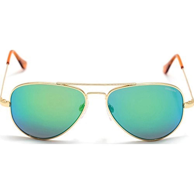Randolph CR71467-PC Mens Rose Gold Frame Green Lens Aviator Sunglasses