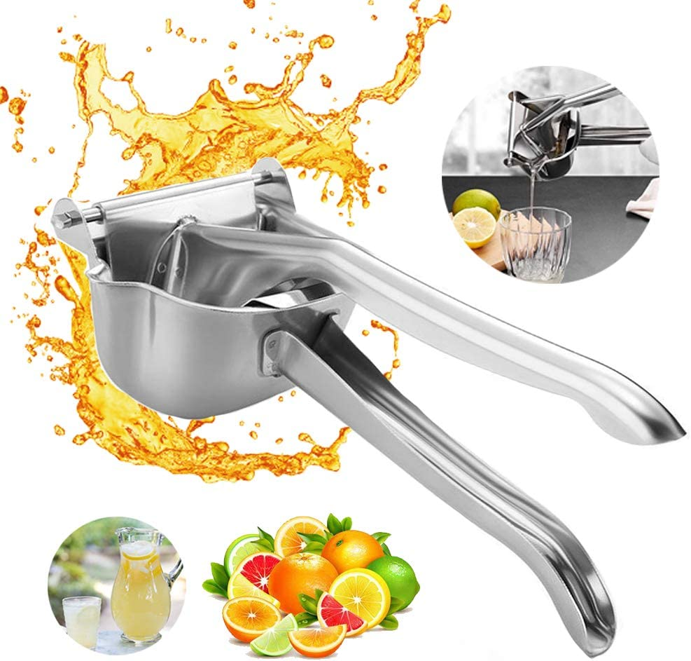 Johiux Lemon Squeezer, Stainless Steel Manual Juicer, Hand Juicer, Premium Fruit Juicer Manual Press Squeezer Heavy Duty Citrus Extractor.