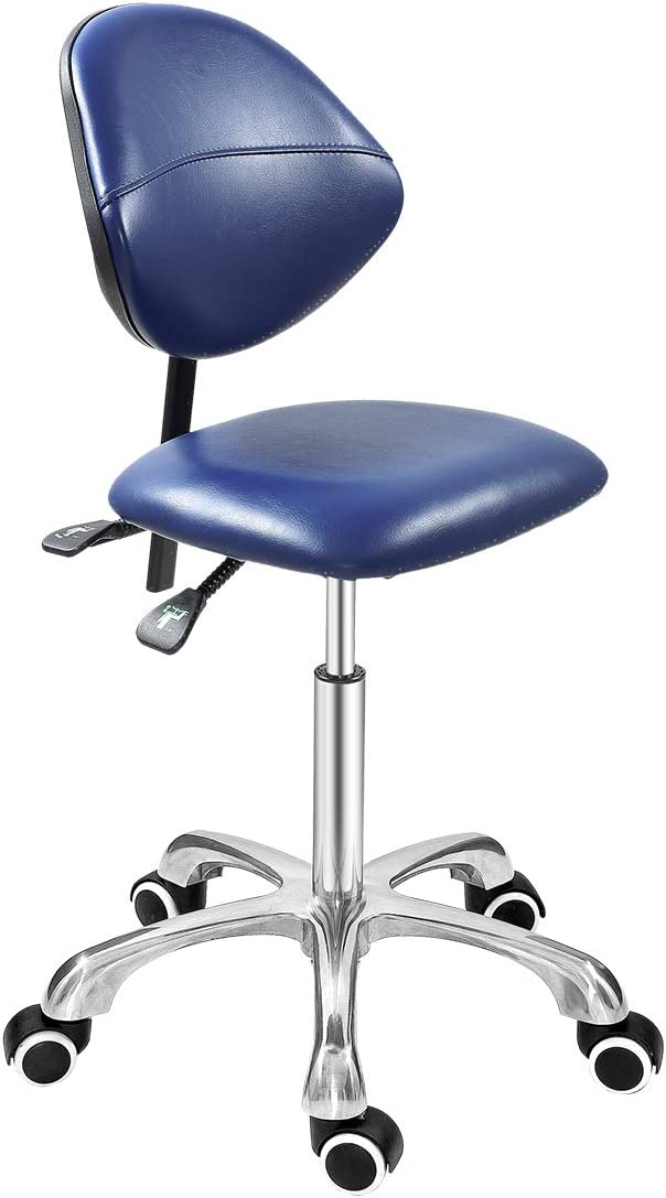 Grace Grace Professional Office Series Height Adjustable with Ergonomic Tilting Backrest for Drafting,Computer,Studio,Workshop,Classroom, Lab, Counter Classic, Royal Blue