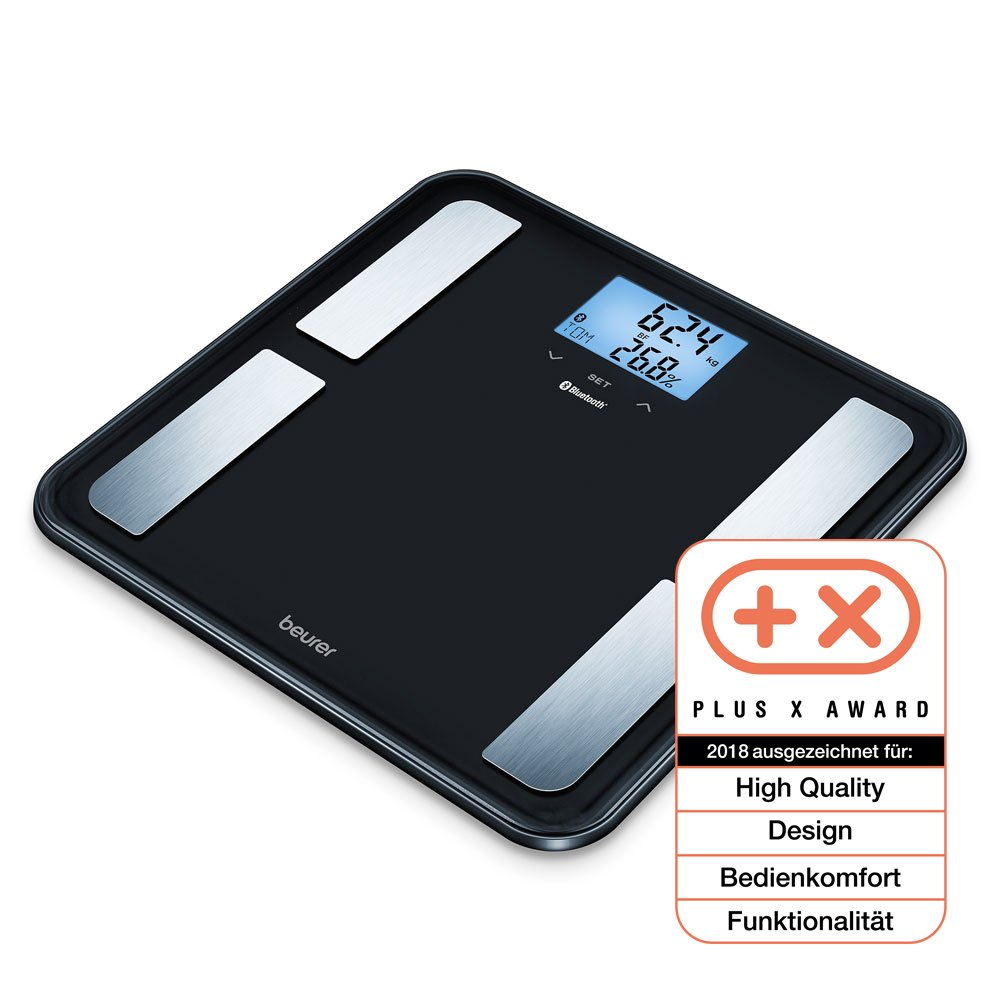 Beurer BF850 Luxury Diagnostic Connected Bathroom Scale, Black 748.21