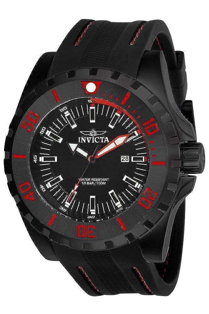 Invicta Men s Pro Diver Stainless Steel Quartz Watch with Polyurethane Strap, Black, 26 Model 23735