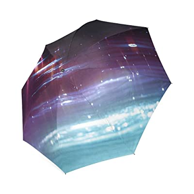 Customized Unique Sparkling Water Folding Rain Umbrella/Parasol/Sun Umbrella